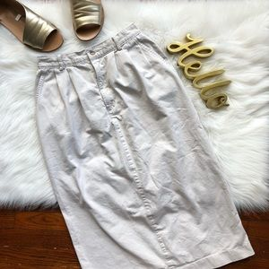 90s Vintage Dockers Khaki High Waist Midi Skirt